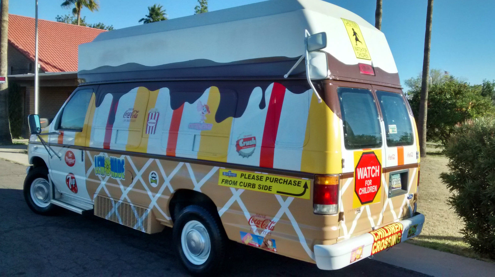 Ice Cream Truck Custom Colorful Van Concession Food