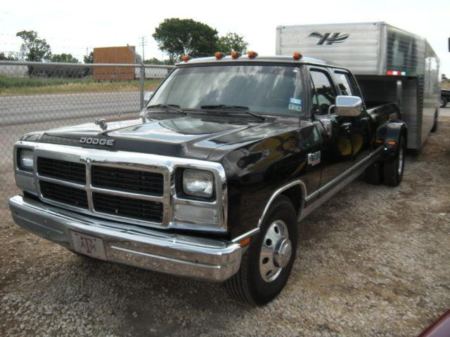 IN TEXAS 1985 DODGE D350 CREW CAB 5.9 CUMMINS ALLISON 6 SPEED AUTOMATIC @ 4 DOOR - Classic Dodge ...