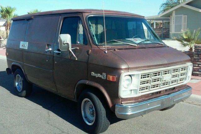 Incredibly Original 78 Chevy Shorty Van Zero Rust