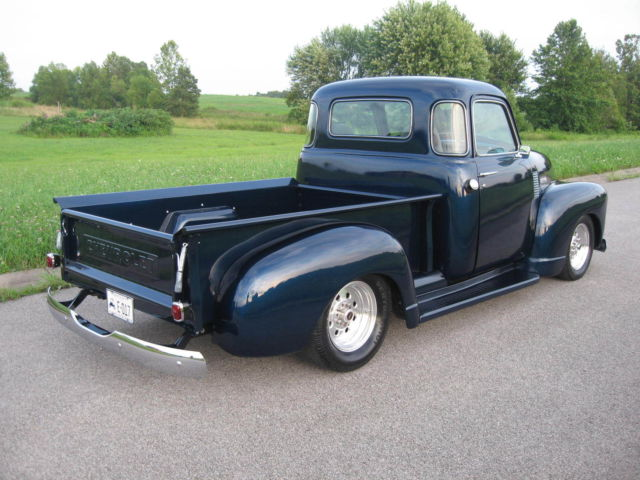 indigo blue short bed step side five 5 window 49 chevy 400. Black Bedroom Furniture Sets. Home Design Ideas