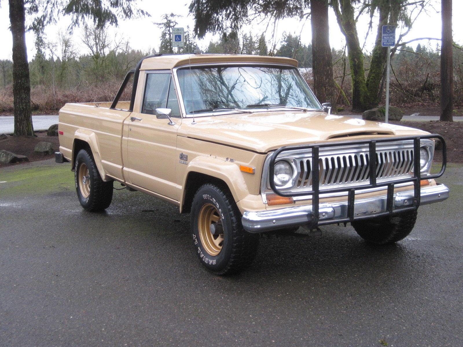 jeep 1978 j10 j 10 golden eagle 401 shortbed 4x4 rust free original truck levi 39 s classic jeep. Black Bedroom Furniture Sets. Home Design Ideas