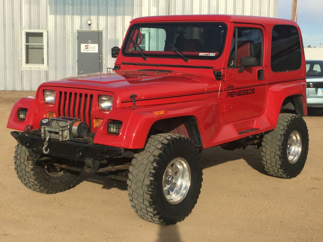 Jeep wrangler yj 4x4 automatic leather seats air conditioning 100 rust free v8 classic jeep for Jeep wrangler red interior for sale