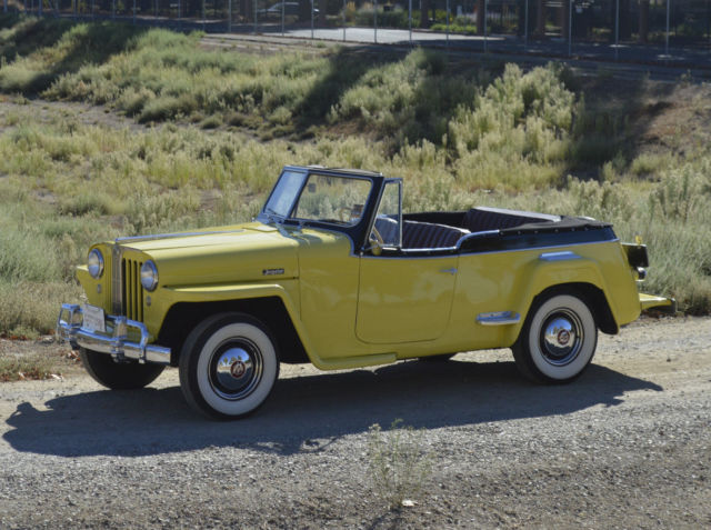 JEEPSTER CONVERTIBLE STOCK 4CYL OD VINTAGE JEEP ROADSTER