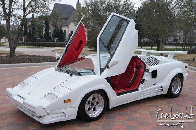 Lamborghini Countach 25th Anniversary Rare Low Miles Crave Luxury