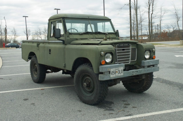 """New Land Rover Discovery Salisbury >> Land Rover Series III Pickup Military FFR 109"""" Wheelbase - Classic Land Rover SERIES III 109 ..."""