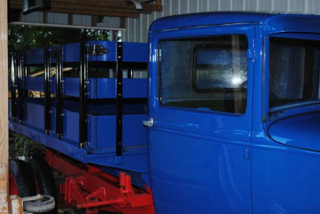 Late 1931 Ford Model Aa Stake Dump Truck A Budd Cab Hand