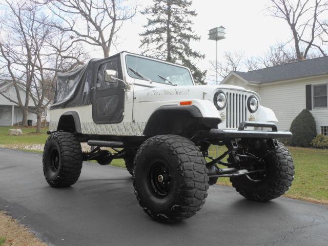 Lifted Jeep Scrambler Cj Sbc Automatic Custom Cage Back Seat Awsome No Reserve