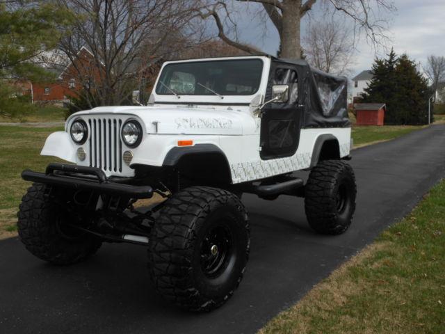 lifted jeep scrambler cj8 sbc automatic custom cage back ...