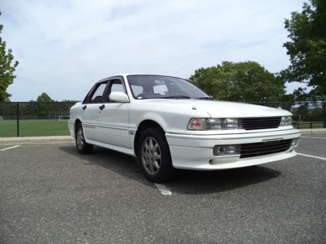 low miles 1989 mitsubishi galant vr4 rhd awd all wheel drive turbo white 5 speed classic. Black Bedroom Furniture Sets. Home Design Ideas