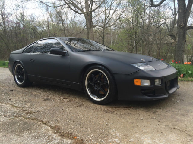 matte black nissan 300zx twin turbo classic nissan 300zx 1990 for sale. Black Bedroom Furniture Sets. Home Design Ideas