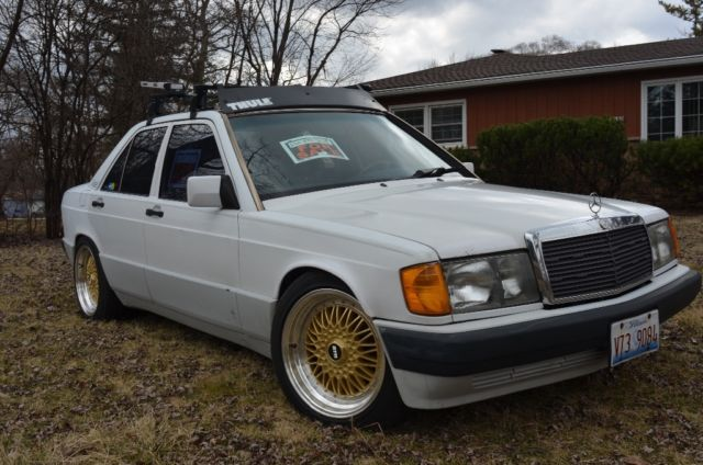 Mercedes 190e 2 6 W201 Modded Suspension Wheels Bbs Rs