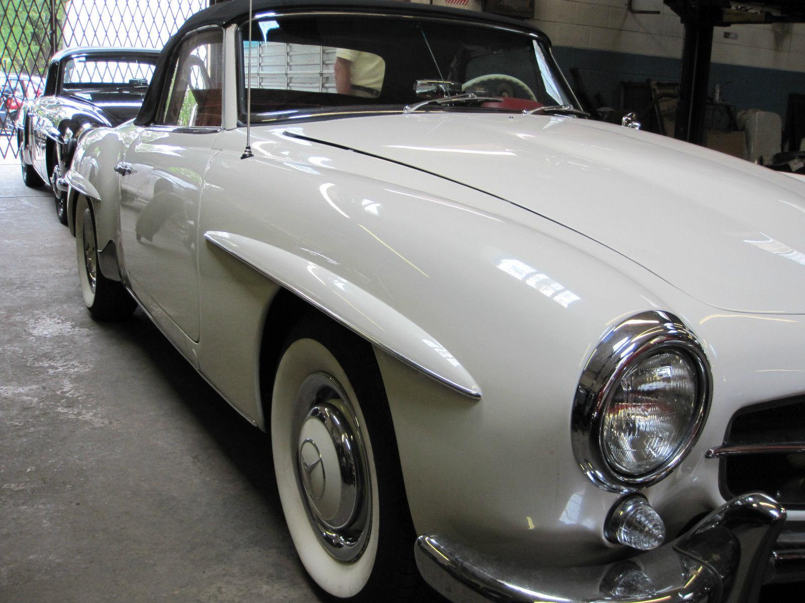 Mercedes benz 190 sl 1960 roadster hardtop classic for Mercedes benz hardtop convertible for sale