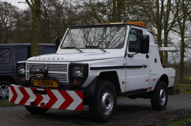 Mercedes Benz G wagon Towing truck Peugeot P4 - Classic ...