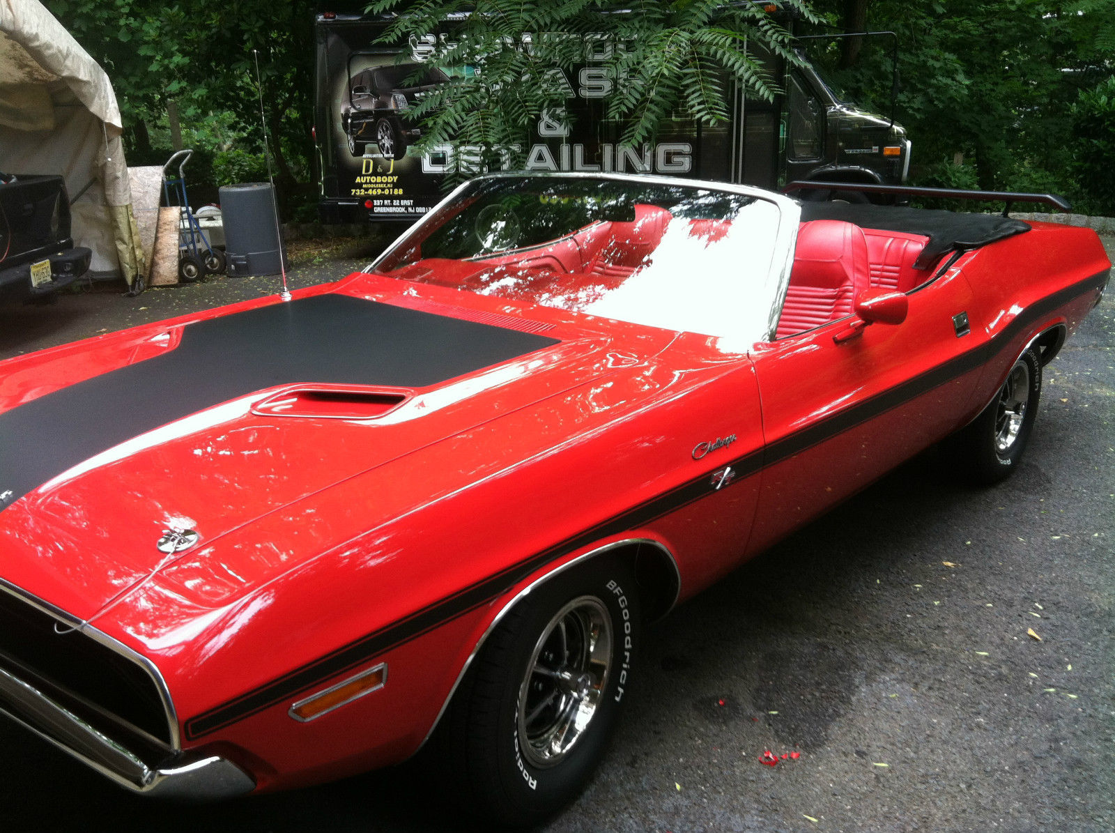 1970 Dodge Challenger Convertible >> Mint 1970 Challenger Convertible R/T , New Restoration, Red/Red/Black Top - Classic Dodge ...