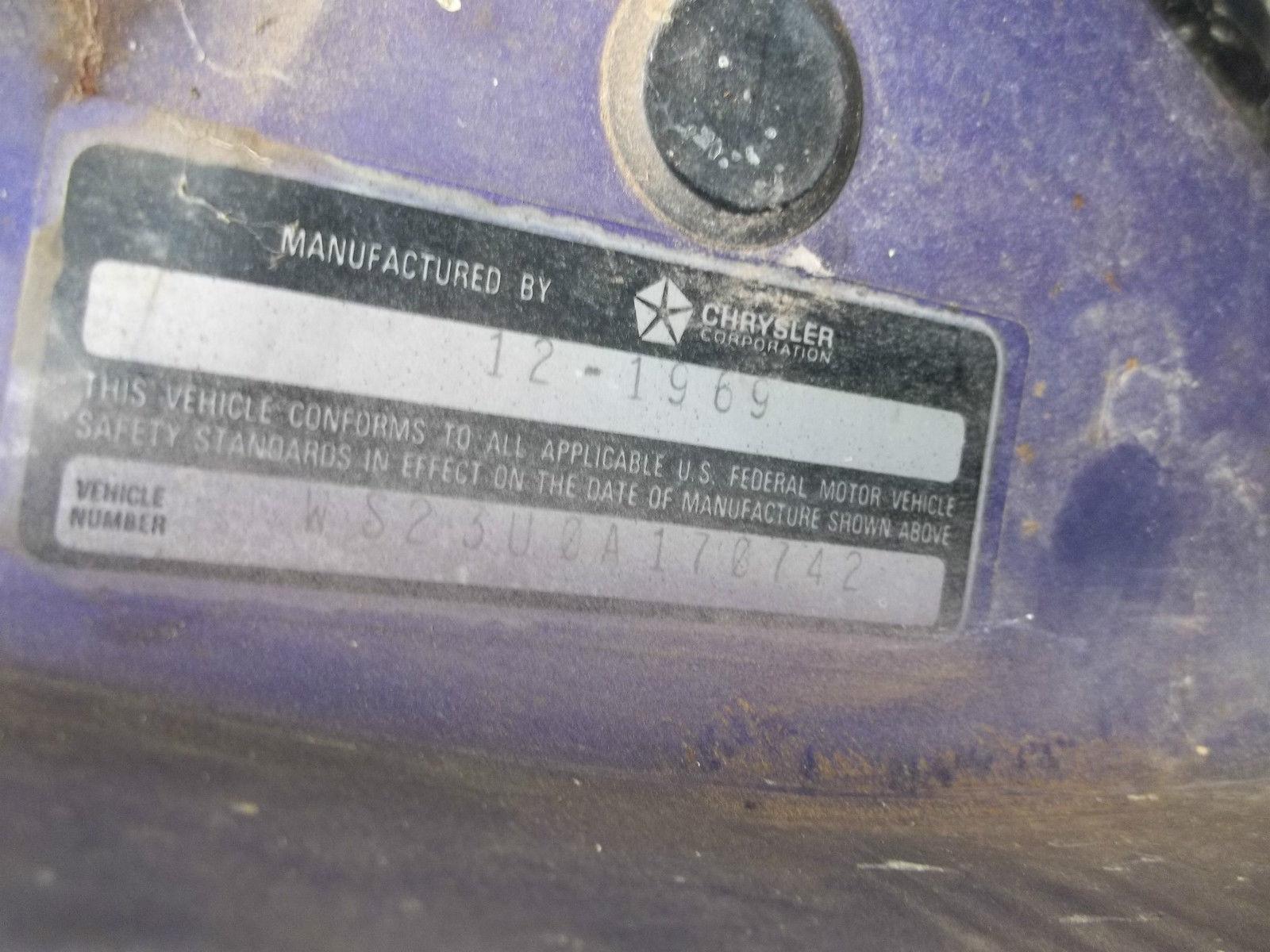 Mopar Dodge Coronet R/T 1970 Plum Crazy Purple 440 WS