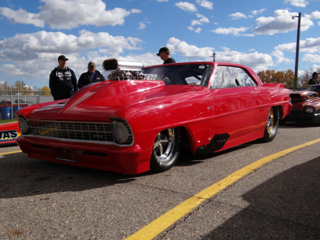 New 1967 Chevy II drag racing car, All New, Best parts ...