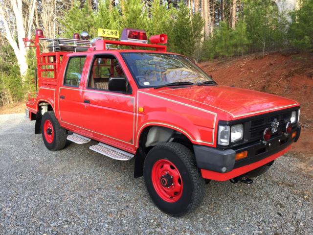 Blue Ridge Nissan >> Nissan Datsun pickup JDM RHD right hand drive 4 door 4wd 4x4 fire truck 1988 - Classic Nissan ...