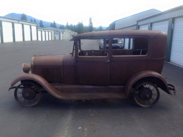 No reserve 1928 ford model a tudor sedan two door rat rod for 1928 chevrolet 2 door coupe for sale