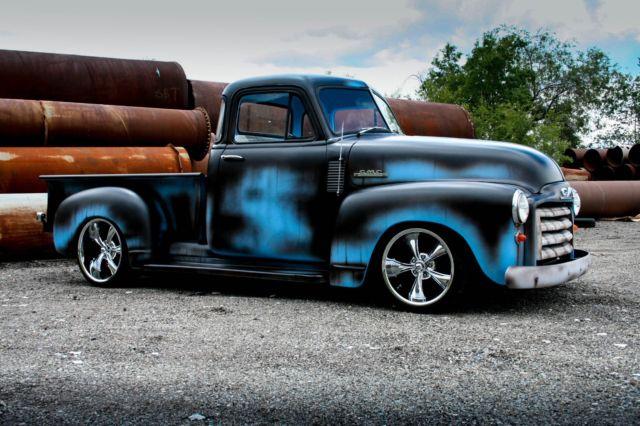 no reserve 1953 gmc 5 window chevy 3100 patina shop truck