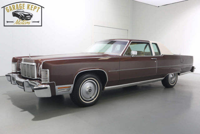 No Reserve 1976 Lincoln Continental 2 Door Hardtop Low Miles