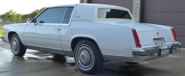 No Reserve 1984 White Cadillac Eldorado Biarritz White