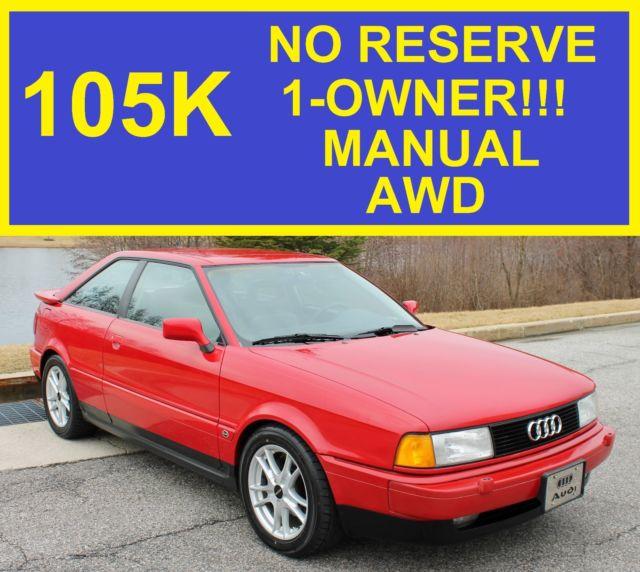 Audi For Sale Under 5000: NO RESERVE AUDI QUATTRO COUPE 5000 A4 A5 B2 20V CORRADO I5