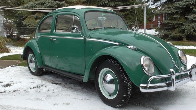 No Reserve Nice 1960 Vw Beetle Ragtop Sunroof