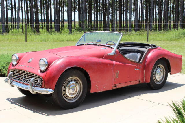 Numbers Matching 1959 Tr3a With Heritage Certificate For Restoration