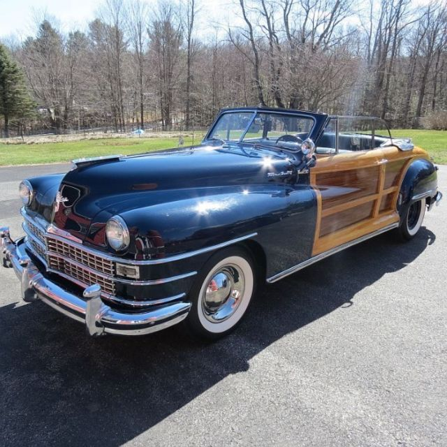 OLD 1948 Chrysler Town And Country Woody Convertible