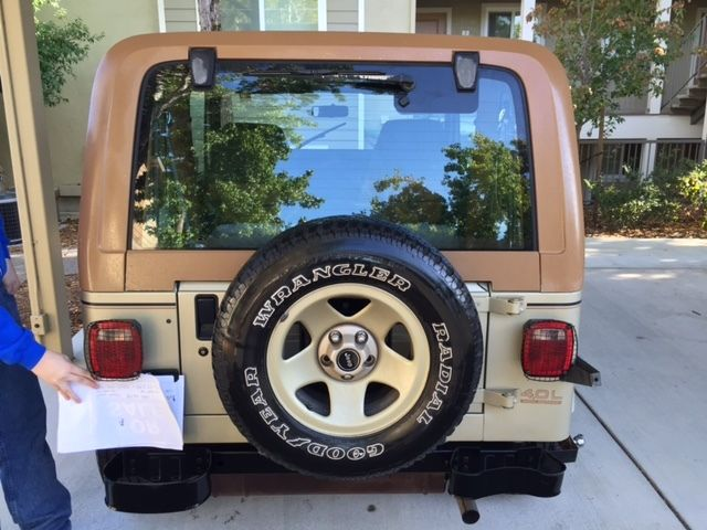 only 59k orig miles 2nd owner 1992 jeep wrangler sahara 4wd a t a c classic jeep. Black Bedroom Furniture Sets. Home Design Ideas