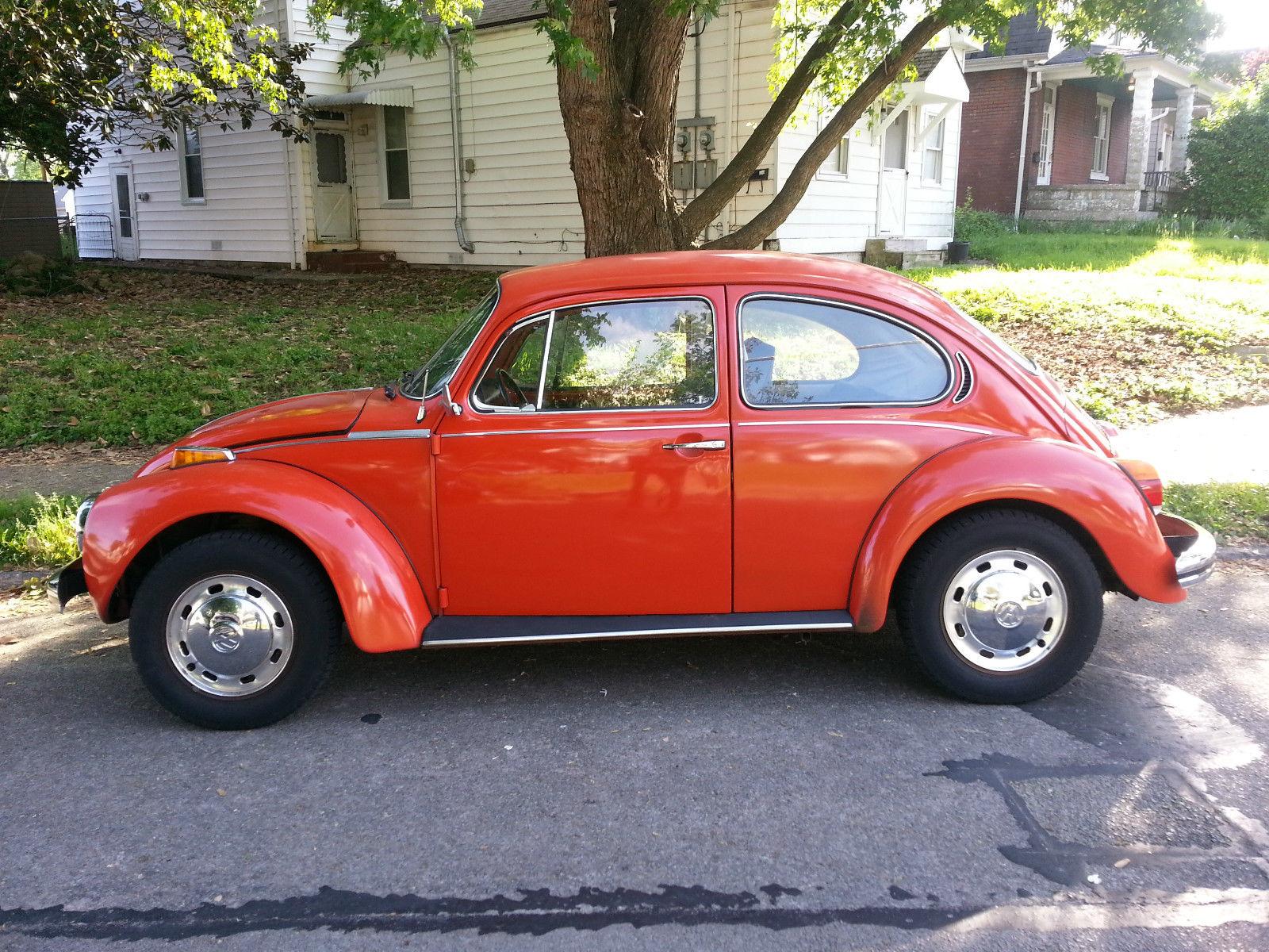 Orange Volkswagen Vw Super Beetle Vintage Classic Volkswagen Beetle Classic 1973 For Sale