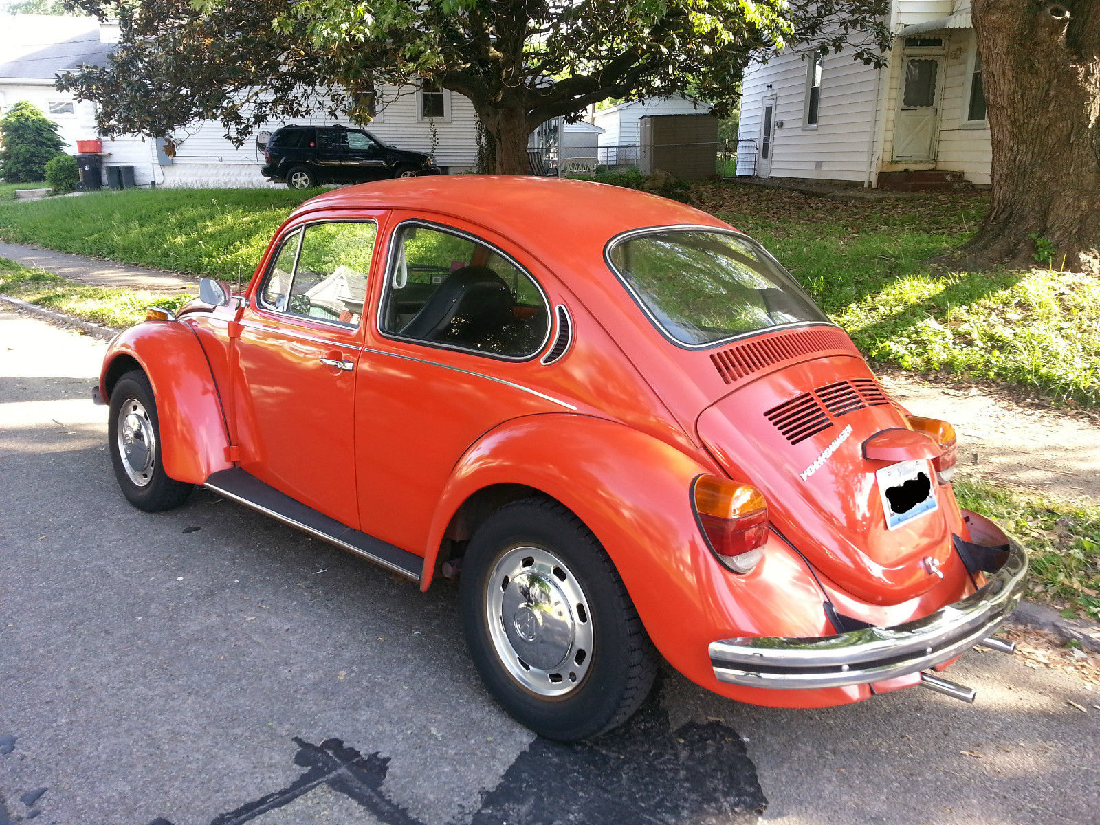orange volkswagen vw super beetle vintage classic volkswagen beetle classic 1973 for sale. Black Bedroom Furniture Sets. Home Design Ideas
