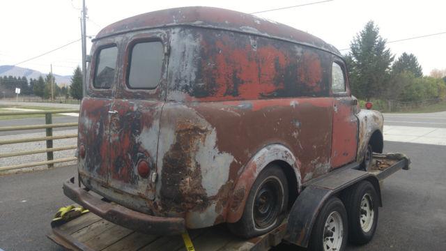 panel truck delivery van vintage rat hot rod patina  series pilot house project classic dodge