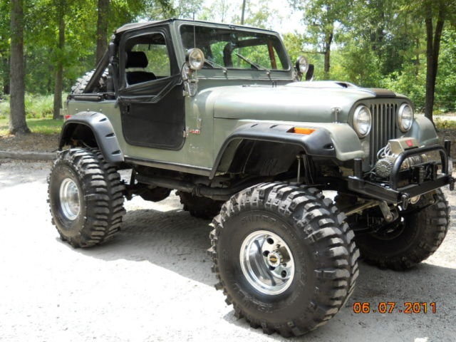 Parting out entire monster jeep cj parts 1 ton axles amc 401 t 18 dana 300 classic jeep
