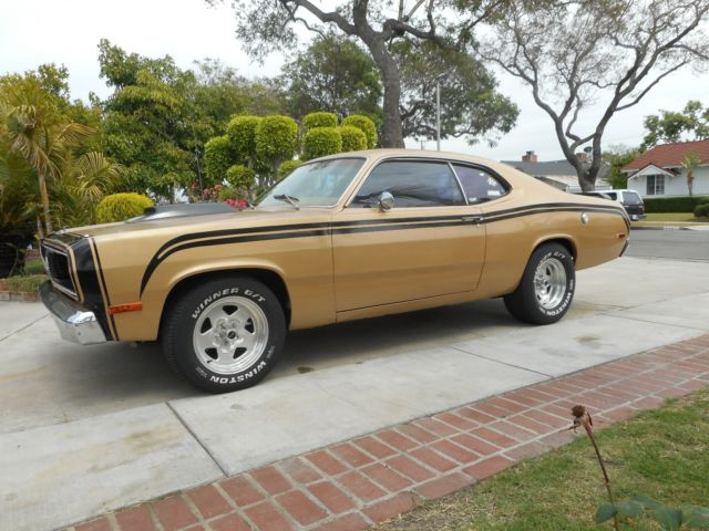1972 Plymouth Duster Classic Muscle Car For Sale In Mi: Plymouth Gold Duster Muscle Car