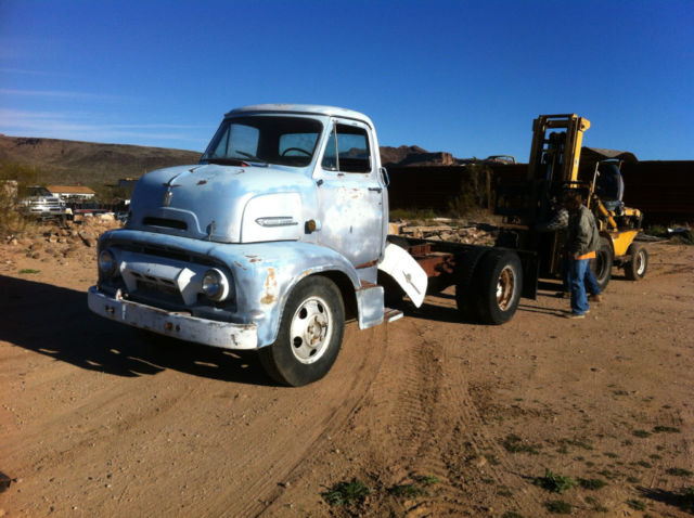 117426 Rare 1954 Ford Cab Over Truck Includes 1991 F350 Frame W460 Engine on frame vin location