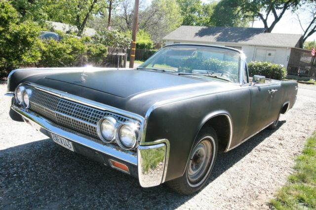 rare 1963 lincoln continental convertible jfl entourage car classic. Black Bedroom Furniture Sets. Home Design Ideas