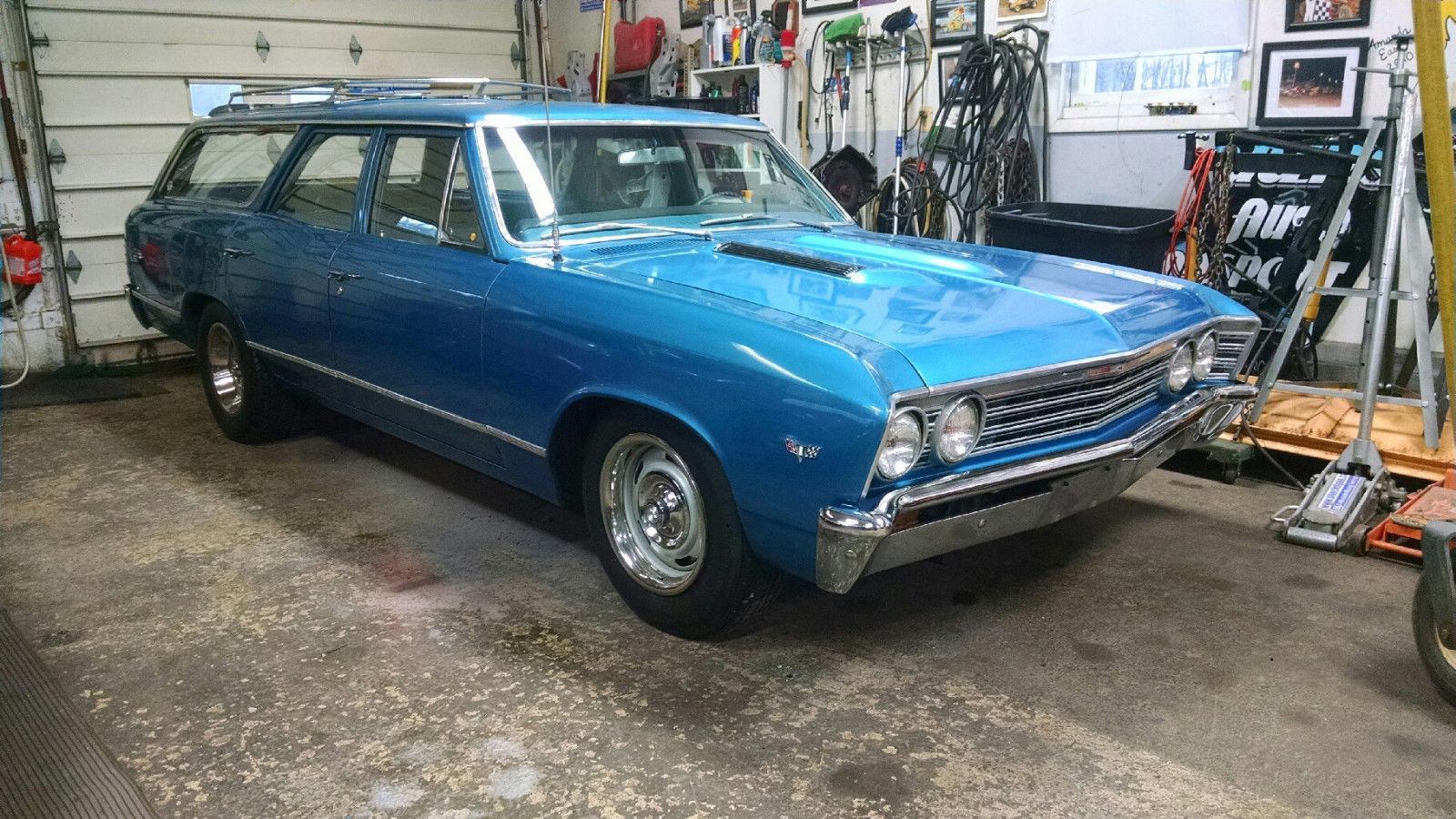 Rare 1967 Chevelle Station Wagon S Match 283 V8 Auto