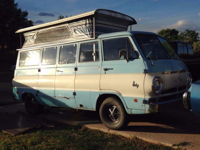 RARE! 1968 Dodge A100 Sportsman Pop Top Scooby Doo Camper ...