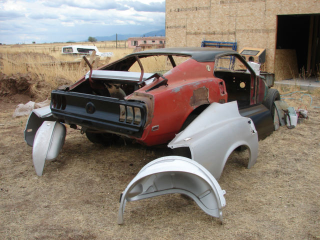 rare 1969 mustang fastback project car rolling chassis 351w 4 spd car antique classic ford. Black Bedroom Furniture Sets. Home Design Ideas