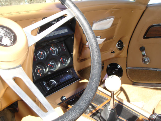 Rare 1973 Corvette Stingray Elkhart Green Saddle Interior ...