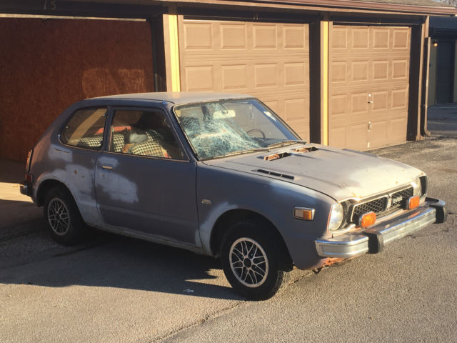 rare 1976 honda civic cvcc 5 speed edition 2nd owner project car 95 000mi classic honda. Black Bedroom Furniture Sets. Home Design Ideas