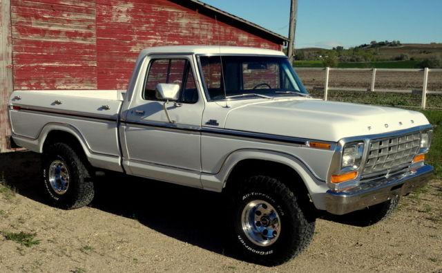 Rare 1979 Ford F150 Ranger 4x4 Shortbox 2 Owner