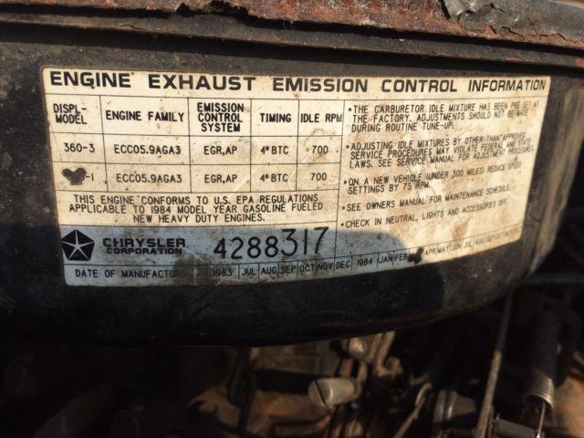 Rare 1984 Dodge Prospector 4x4 4 Door - Classic Dodge Other