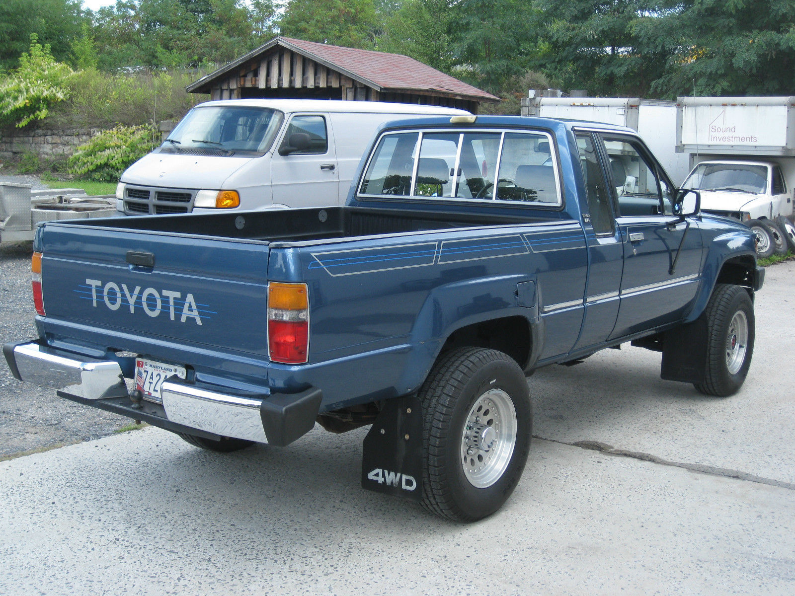 rare blue 1988 toyota pickup extra cab auto 4wd very clean 4cyl classic toyota other 1988 for sale. Black Bedroom Furniture Sets. Home Design Ideas