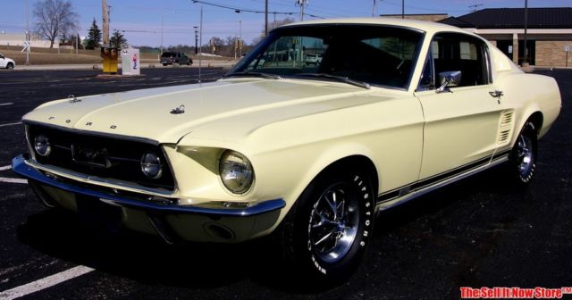 Rare California Survivor Ford Mustang Gta Fastback W Air Big Block on 390 Ford Engine Block Numbers