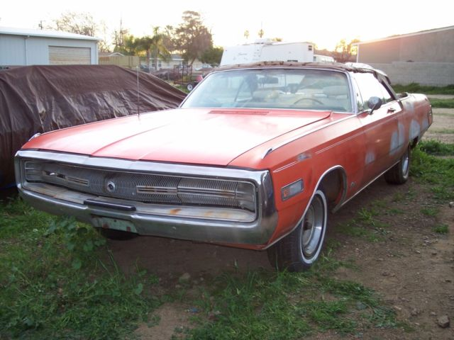 rare ev2 tor red or hemi orange 1970 chrysler 300 convertible highly optioned classic. Black Bedroom Furniture Sets. Home Design Ideas