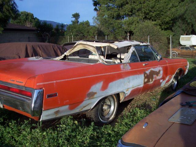 1970 Chrysler 300 Convertible For Sale: Rare EV2 (Tor Red Or Hemi Orange) 1970 Chrysler 300