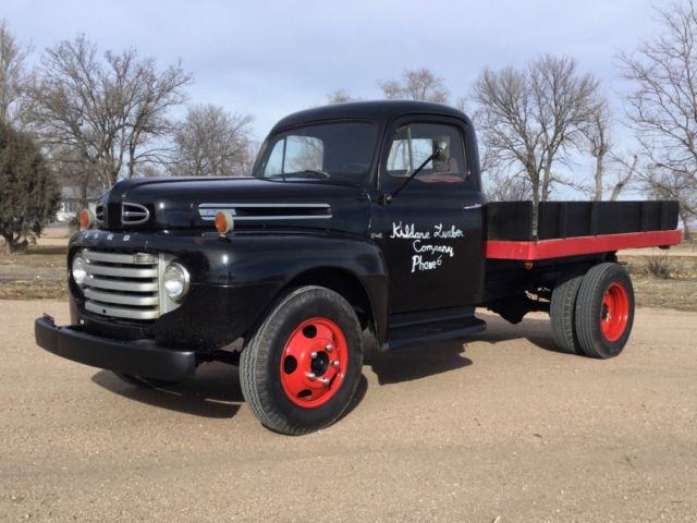 Rare One Owner 1949 Ford F4 Flatbed Dump Pickup