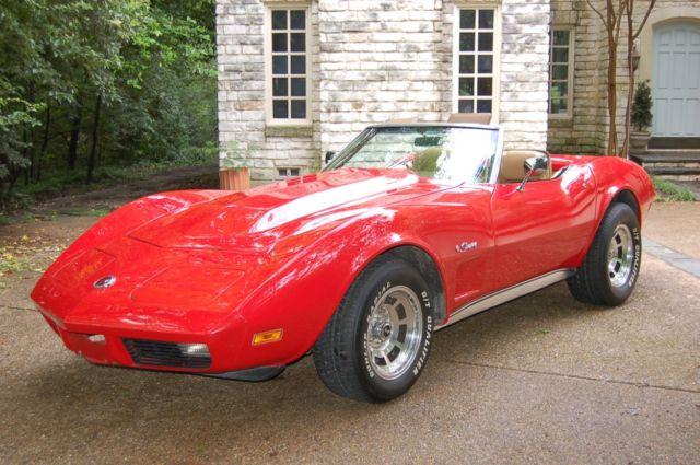 REAL DEAL Red Big Block 1974 Corvette Convertible 454 502